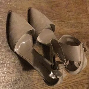 Taupe color shoes